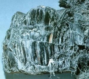 crocidolite blue asbestos sample